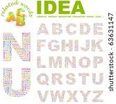 idea. vector letter collection. ... | Shutterstock .eps vector #63631147