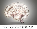 Polygonal Human Brain.the...