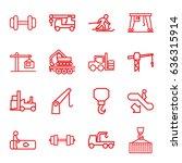 lift icons set. set of 16 lift...   Shutterstock .eps vector #636315914