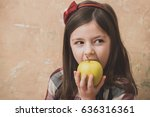 adorable  small  little girl ... | Shutterstock . vector #636316361