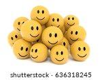 yellow smileys in social media... | Shutterstock . vector #636318245