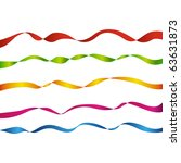 set of colored ribbons on white ...   Shutterstock . vector #63631873