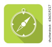 compass icon isolated    | Shutterstock .eps vector #636319217