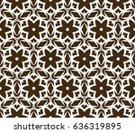 decorative floral seamless... | Shutterstock .eps vector #636319895