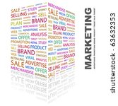 marketing. word collage on... | Shutterstock .eps vector #63632353