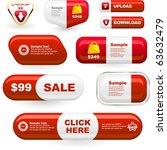 set of design elements for sale.   Shutterstock .eps vector #63632479