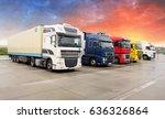 truck  transportation  freight... | Shutterstock . vector #636326864