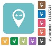 gps map location white flat... | Shutterstock .eps vector #636337289