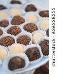wedding truffles at reception   Shutterstock . vector #636338255
