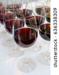 vintage wine at wedding...   Shutterstock . vector #636338309