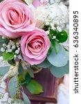 wedding flower decorations   Shutterstock . vector #636340895