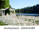 oregon wedding venue by lake   Shutterstock . vector #636341489