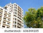 high rise residential apartment | Shutterstock . vector #636344105