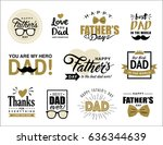 set of father's day design... | Shutterstock .eps vector #636344639