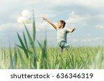 boy having fun with his... | Shutterstock . vector #636346319