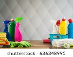 cleaning products | Shutterstock . vector #636348995