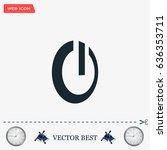 power button icon   Shutterstock .eps vector #636353711