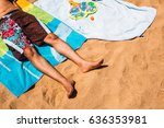 low section of a man relaxing... | Shutterstock . vector #636353981