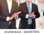 business team meeting... | Shutterstock . vector #636357041