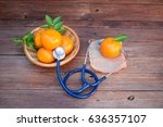 vitamin c from fruits good for... | Shutterstock . vector #636357107