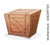 wooden crate  illustration of a ... | Shutterstock .eps vector #636359765