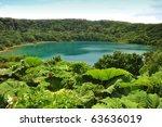 laguna botos  a blue lake in... | Shutterstock . vector #63636019