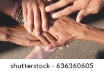 arm of all races and colors... | Shutterstock . vector #636360605