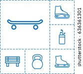 outdoors icon. set of 6... | Shutterstock .eps vector #636361301