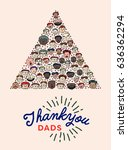 vector icon set of fathers day... | Shutterstock .eps vector #636362294