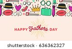 vector icon set of fathers day...   Shutterstock .eps vector #636362327