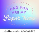 vector icon set of fathers day... | Shutterstock .eps vector #636362477