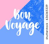 bon voyage poster with hand...