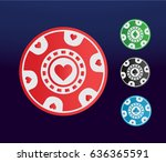 modern online poker chip icon