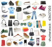 objects collection isolated on... | Shutterstock . vector #63637303