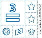 rating icon. set of 6 rating...