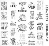 collection of typographic... | Shutterstock .eps vector #636374597