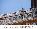 decorative roof ends  imperial... | Shutterstock . vector #636382415