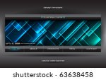 vector abstract web banner | Shutterstock .eps vector #63638458