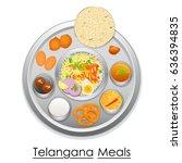 vector illustration of plate... | Shutterstock .eps vector #636394835