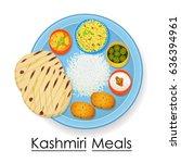 vector illustration of plate... | Shutterstock .eps vector #636394961