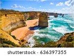 mountain beach landscape | Shutterstock . vector #636397355