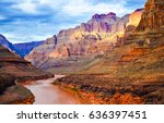 mountain river valley landscape | Shutterstock . vector #636397451