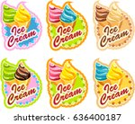 vector set of emblem of multi... | Shutterstock .eps vector #636400187