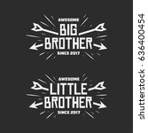 big brother little brother... | Shutterstock .eps vector #636400454