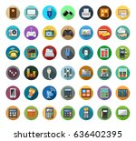 electronics icons | Shutterstock .eps vector #636402395