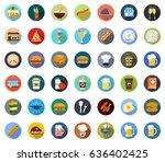 restaurant icons   Shutterstock .eps vector #636402425