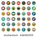 financial icons | Shutterstock .eps vector #636402455