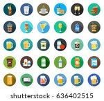 drink icons | Shutterstock .eps vector #636402515
