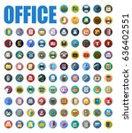 office icons | Shutterstock .eps vector #636402551
