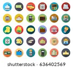 banking icons | Shutterstock .eps vector #636402569